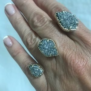 Drusy Naomi Double Ring - Kendra Special